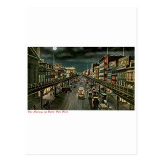 El frondoso, por noche, Nueva York. Vendimia Postales