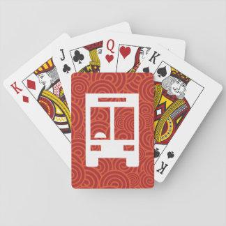 El frontal acarrea el pictograma barajas de cartas