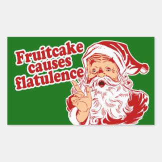 El Fruitcake causa flatulencia Pegatina Rectangular