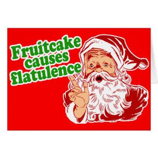 El Fruitcake causa flatulencia Tarjeta De Felicitación