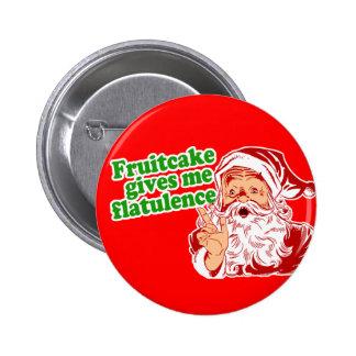 El Fruitcake hace que Santa Fart Pin
