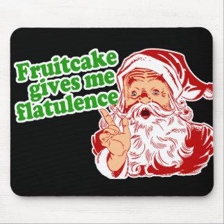 El Fruitcake hace que Santa Fart Tapete De Ratones