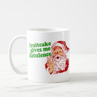 El Fruitcake hace que Santa Fart Taza Básica Blanca
