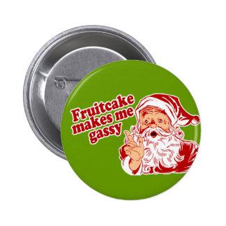 El Fruitcake hace Santa gaseoso Pin