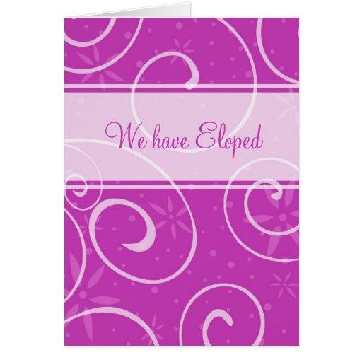 El fucsia rosado remolina tarjeta de la invitación