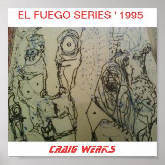 EL FUEGO 1995 018, EL FUEGO SERIES ' 1995, CRAI... POSTER