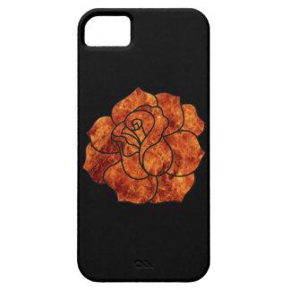 El fuego anaranjado subió el caso del iPhone 5G Funda Para iPhone 5 Barely There