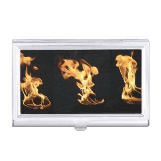 El fuego ardiente del bombero flamea el regalo cajas de tarjetas de presentación