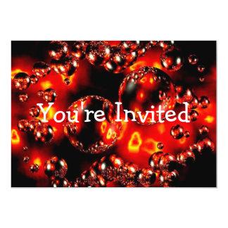 El fuego burbujea invitación