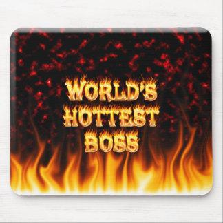 El fuego de Boss del mundo y el rojo más calientes Tapete De Raton