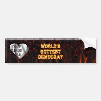 El fuego de Demócrata del mundo y el marbl más cal Etiqueta De Parachoque