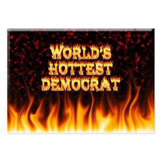 El fuego de Demócrata del mundo y el marbl más cal Plantillas De Tarjetas De Visita
