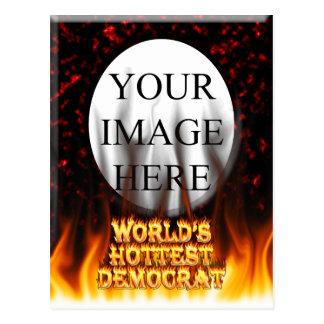 El fuego de Demócrata del mundo y el marbl más cal Postal