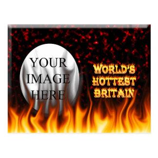 El fuego de Gran Bretaña del mundo y el rojo más c Postal