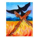 El fuego de la Phoenix de levantamiento Tarjetas Postales