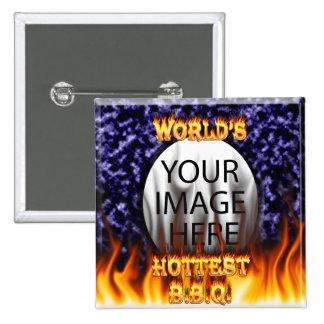 El fuego del Bbq del mundo y el azul más calientes Pins