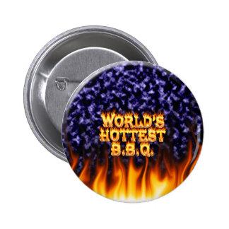 El fuego del Bbq del mundo y el azul más calientes Pin