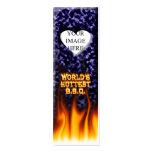 El fuego del Bbq del mundo y el azul más calientes Tarjeta De Negocio