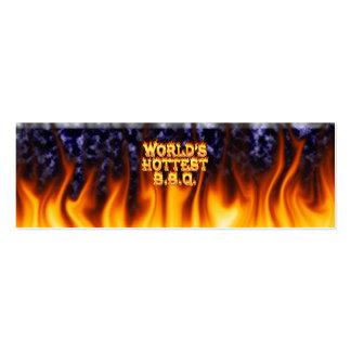 El fuego del Bbq del mundo y el azul más calientes Tarjetas De Visita Mini