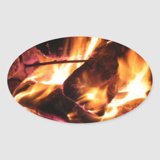 El fuego del campo colcomanias ovaladas personalizadas
