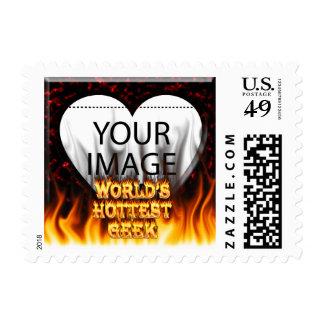 El fuego del friki del mundo y el rojo más sellos