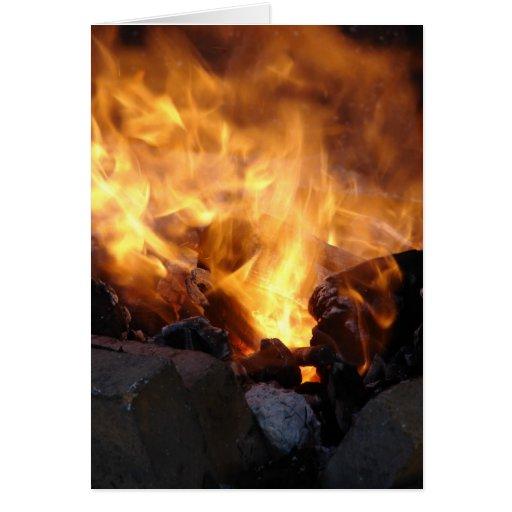 El fuego del herrero tarjeta de felicitación