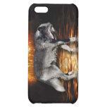 El fuego del lobo gris flamea el caso del iPhone d