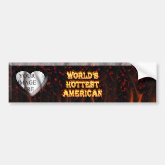 El fuego del mundo y el marbl americanos más calie etiqueta de parachoque