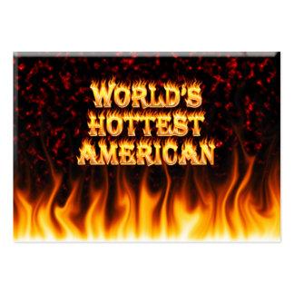 El fuego del mundo y el marbl americanos más tarjetas de visita grandes