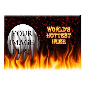 El fuego del mundo y el rojo irlandeses más tarjetas de visita grandes