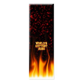 El fuego del mundo y el rojo irlandeses más tarjetas de visita mini