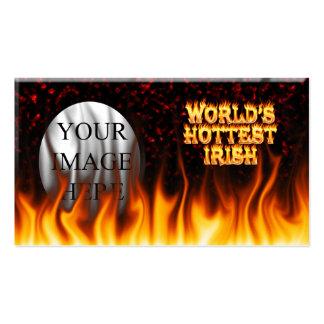 El fuego del mundo y el rojo irlandeses más tarjetas de visita