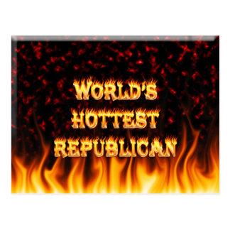 El fuego del mundo y el rojo republicanos más cali postal