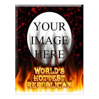 El fuego del mundo y el rojo republicanos más cali tarjeta postal