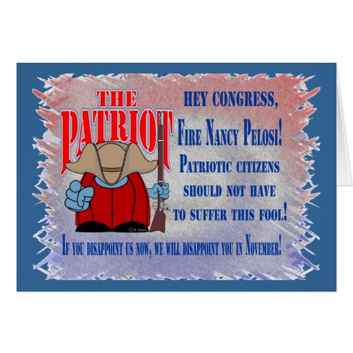 El fuego del patriota tarjeta de felicitación