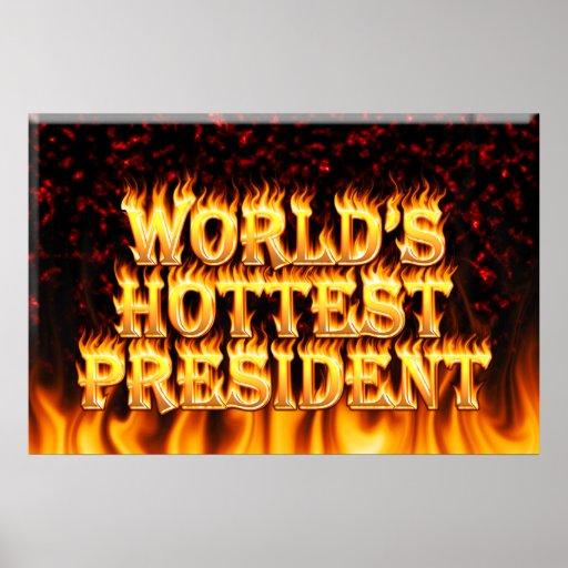 El fuego del presidente del mundo y el marb más ca póster