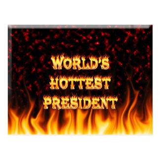El fuego del presidente del mundo y el marb más ca tarjetas postales