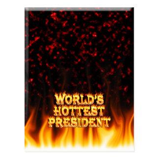 El fuego del presidente del mundo y el marb más ca tarjeta postal