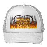 El fuego del profesor del mundo y el rojo más cali gorras