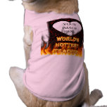 El fuego del profesor del mundo y el rojo más cali camisetas de perrito
