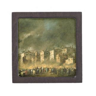 El fuego en San Marcuola (aceite en lona) Caja De Regalo De Calidad