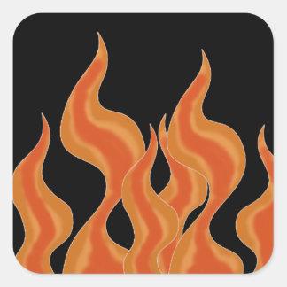El fuego flamea al pegatina
