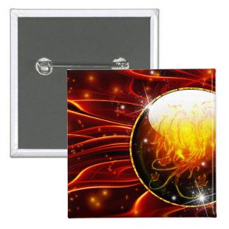El fuego Oracle Pin Cuadrada 5 Cm