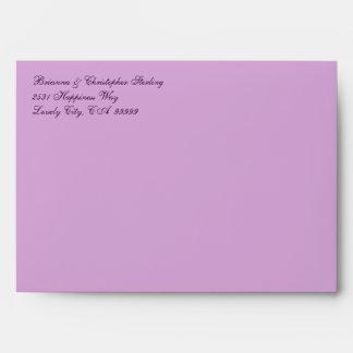El fuego púrpura florece la invitación A7