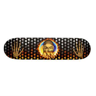 El fuego real y las llamas del cráneo de Ana andan Patín Personalizado