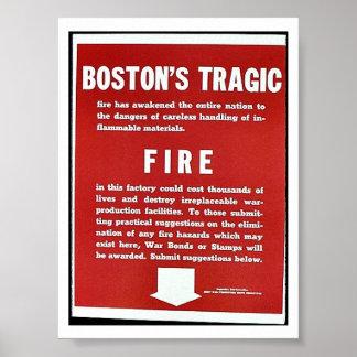 El fuego trágico de Boston Poster