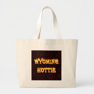 El fuego y las llamas del hottie de Wyoming diseña Bolsas Lienzo