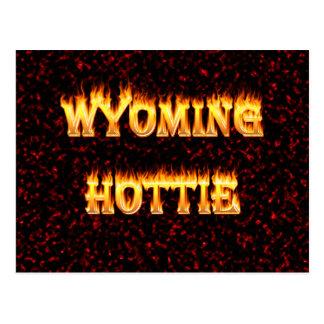 El fuego y las llamas del hottie de Wyoming Postal