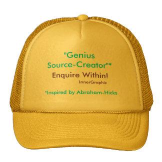 ¡El Fuente-Creador del genio investiga dentro! Gorros Bordados