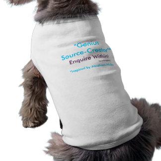 ¡El Fuente-Creador del genio investiga dentro! Camisa De Mascota